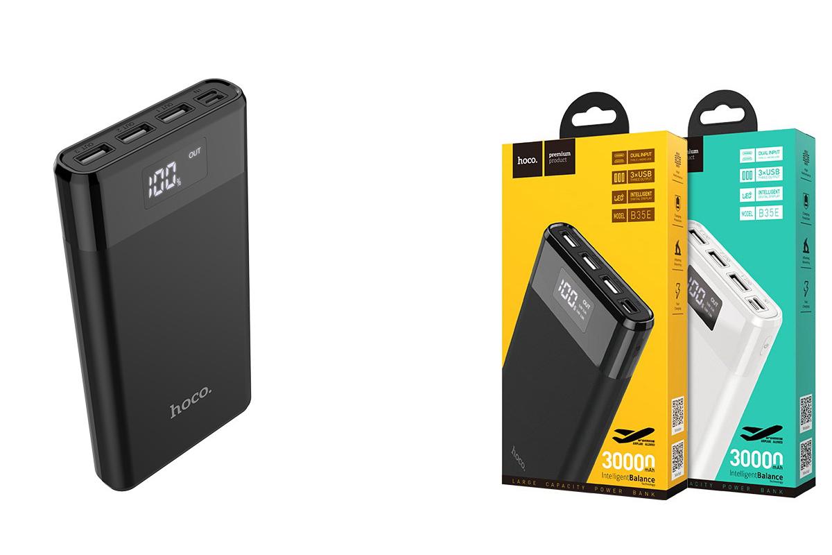 Универсальный дополнительный аккумулятор HOCO B35E Entourage Bank 30000 mAh черный
