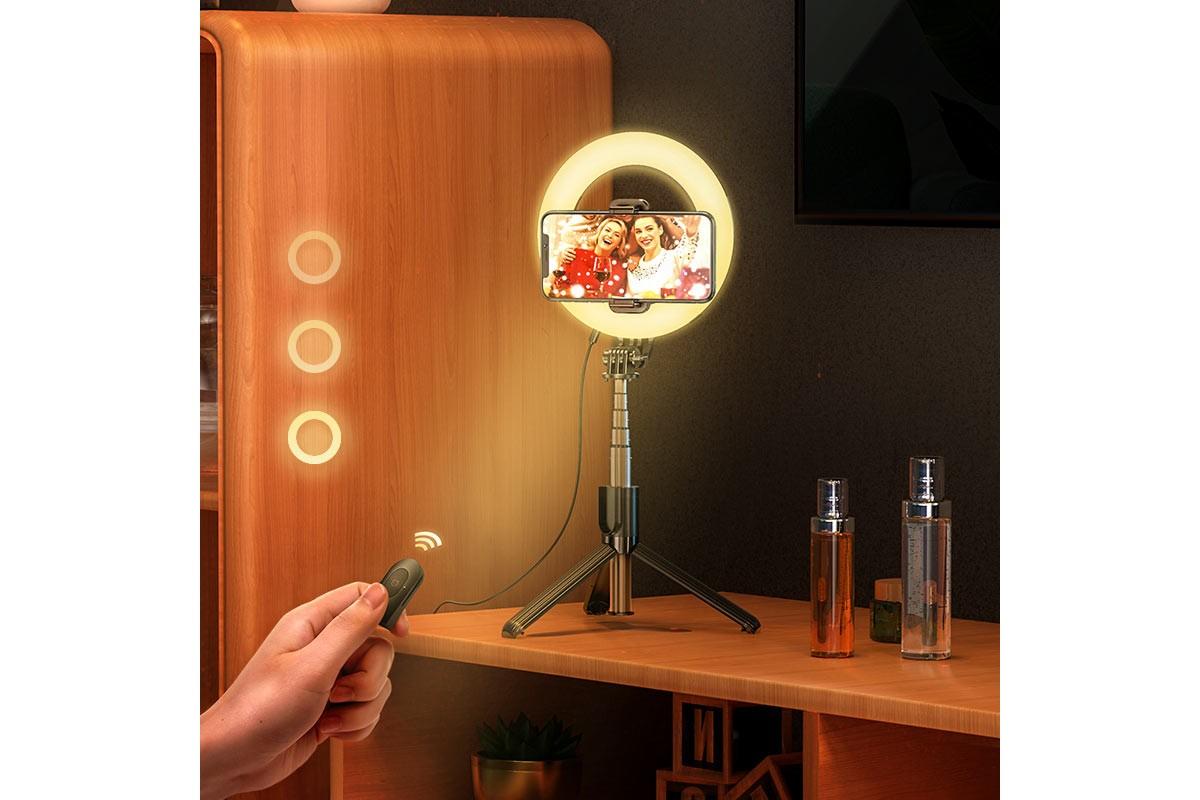 Кольцевая лампа настольная HOCO LV-03 для фото и видеосъемки