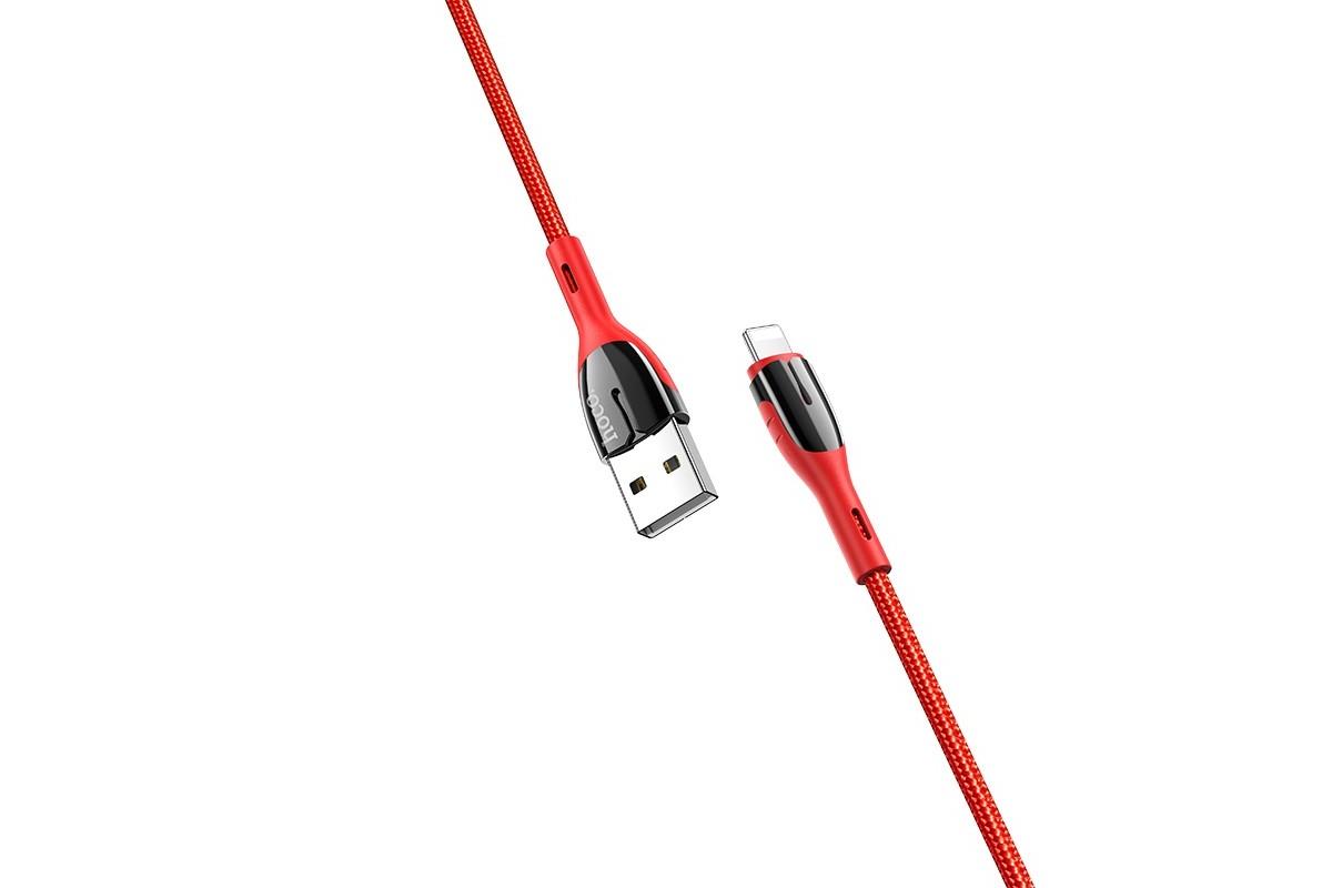 Кабель для iPhone HOCO U89 Saffeness charging cable for Lightning красный