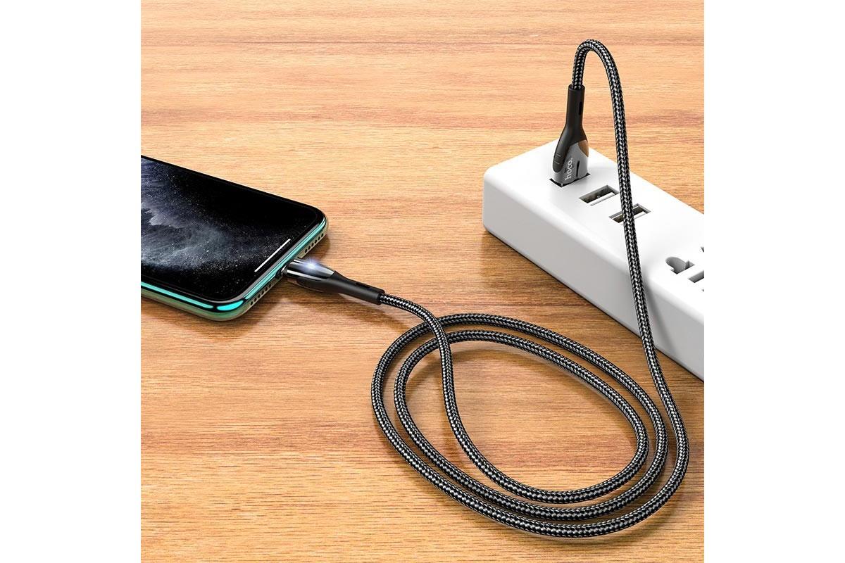 Кабель для iPhone HOCO U89 Saffeness charging cable for Lightning черный