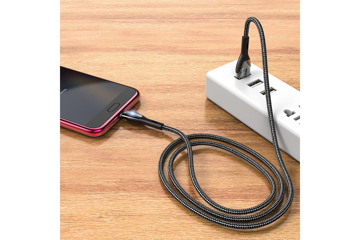 Кабель USB micro USB HOCO U89 Safeness charging cable for Micro (черный) 1 метр