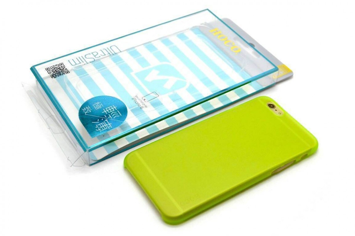 Пластиковая накладка iPhone 6/6S HOCO Thin Series Frosted Case зеленая (в фирменной упаковке)