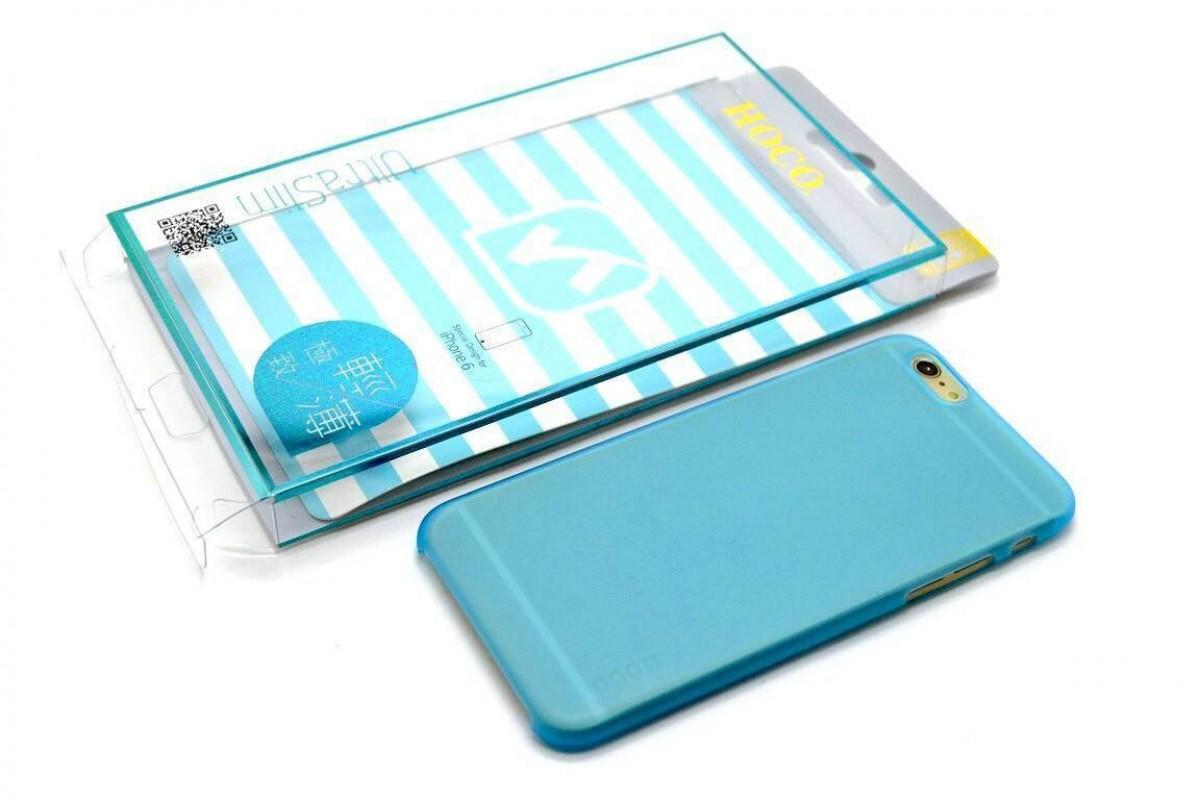 Пластиковая накладка iPhone 6/6S HOCO Thin Series Frosted Case голубая (в фирменной упаковке)