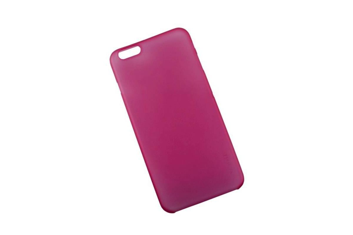 Пластиковая накладка iPhone 6/6S HOCO Thin Series Frosted Case розовая (в фирменной упаковке)