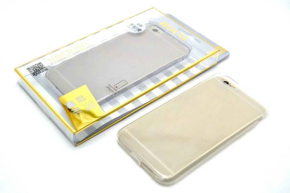 Силиконовая накладка iPhone 6/6S HOCO Light Series TPU Case прозрачная (в фирменной упаковке)
