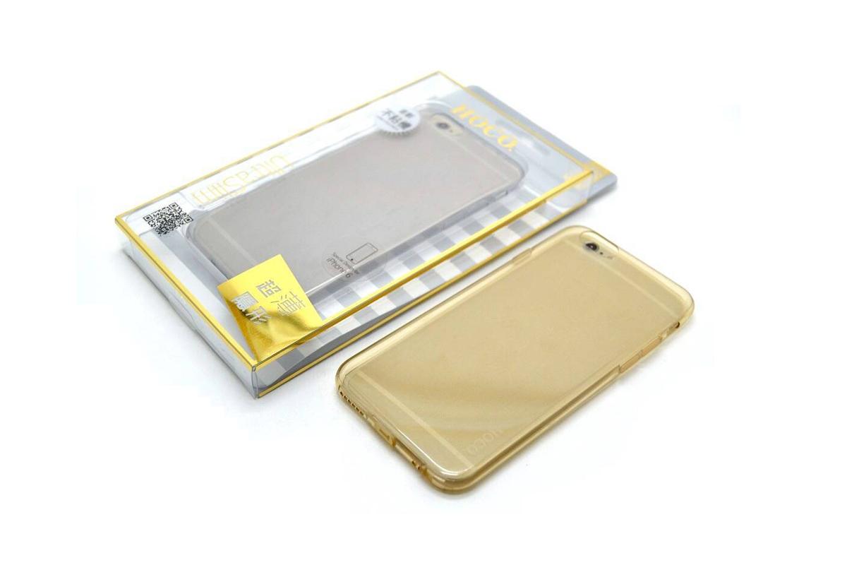 Силиконовая накладка iPhone 6/6S HOCO Light Series TPU Case золотистая (в фирменной упаковке)