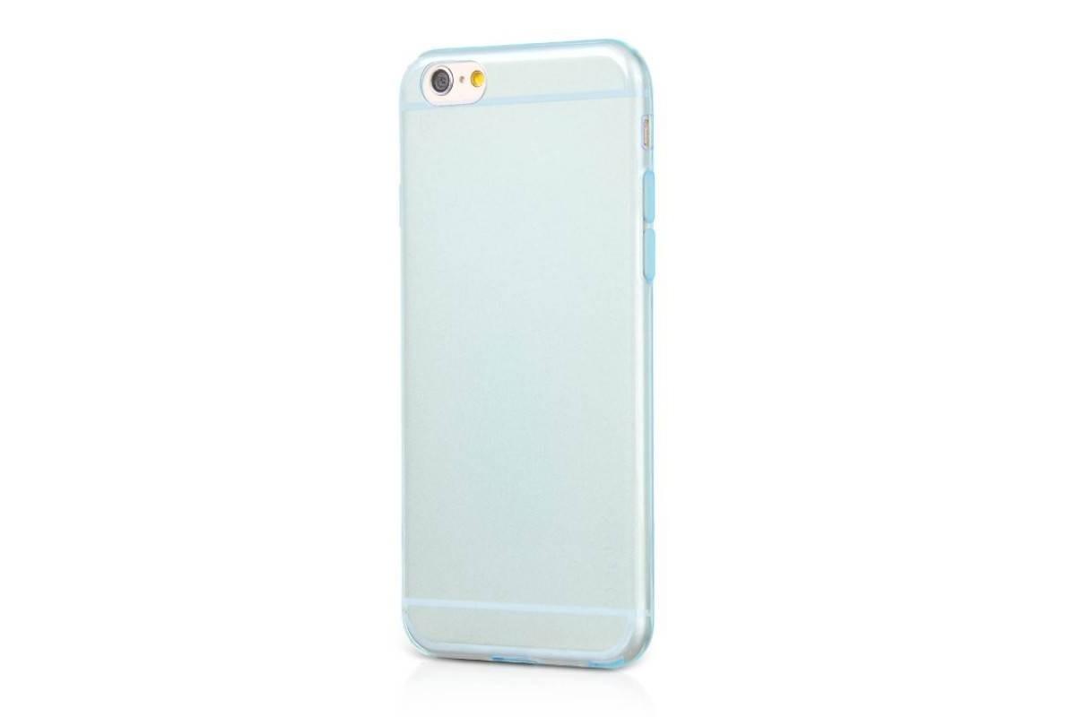 Силиконовая накладка iPhone 6/6S HOCO Light Series TPU Case голубая (в фирменной упаковке)