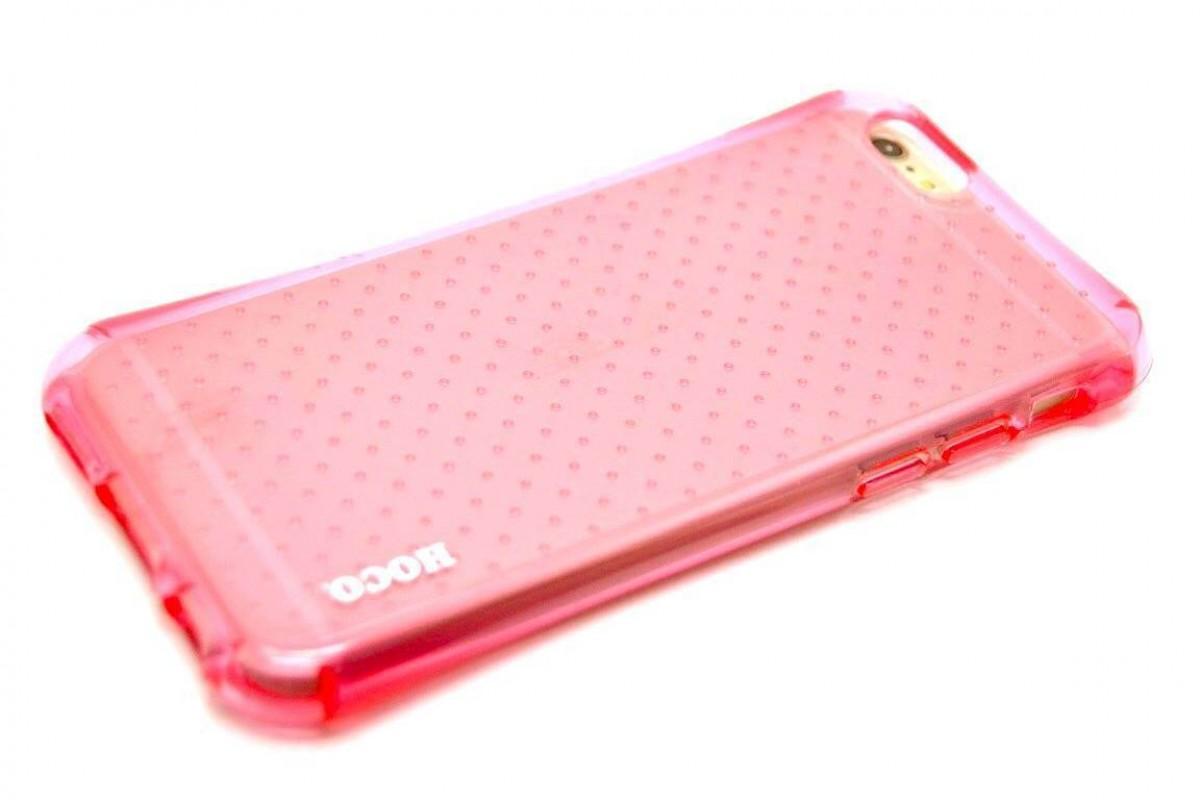 Силиконовая накладка iPhone 6/6S HOCO Armor series TPU Case розовая (в фирменной упаковке)