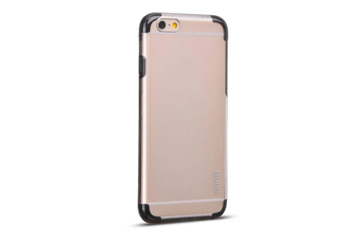 Пластиковая накладка iPhone 6/6S HOCO Steel Series Double-ColorPC прозрачная с черной окантовкой (в фирменной упаковке)