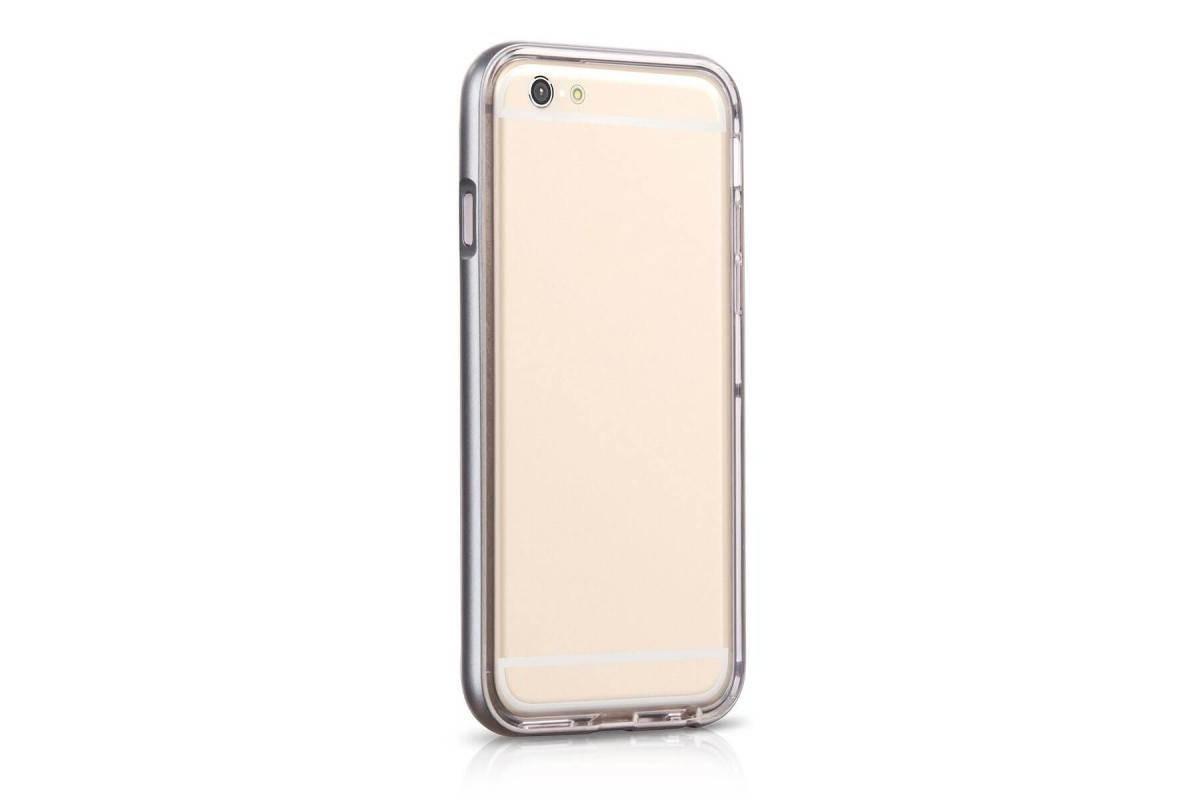 Пластиковая накладка iPhone 6/6S HOCO Steel Series Flash Case серая (в фирменной упаковке)