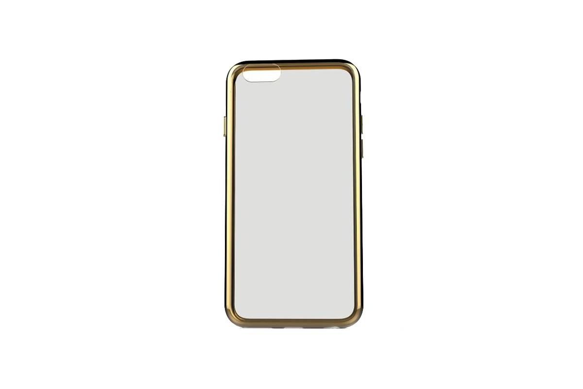 Пластиковая накладка iPhone 6/6S HOCO Steel Series Flash Case золотистая (в фирменной упаковке)