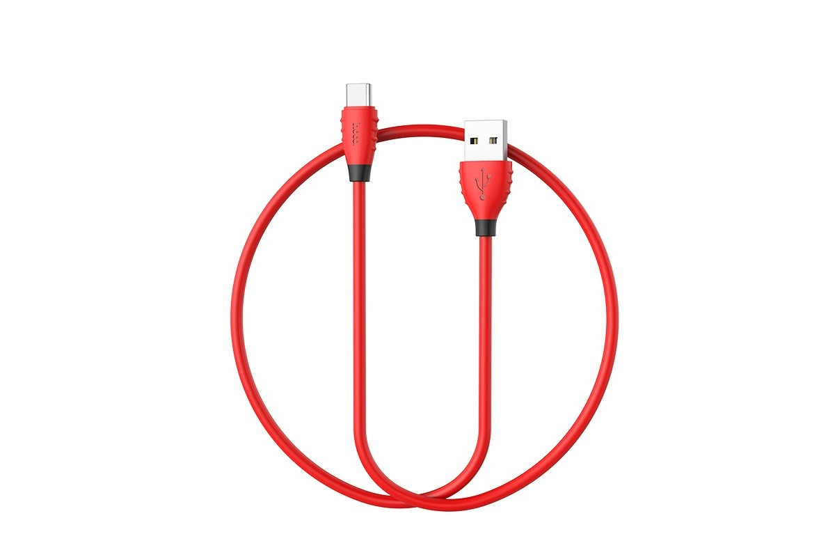 Кабель USB HOCO X27 Excellent charge charging data cable for Type-C (красный) 1 метр