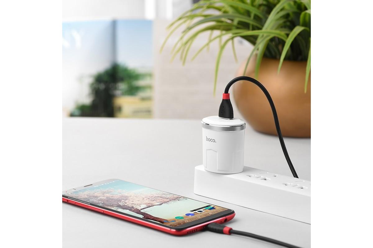 Кабель USB HOCO X27 Excellent charge charging data cable for Type-C (черный) 1 метр