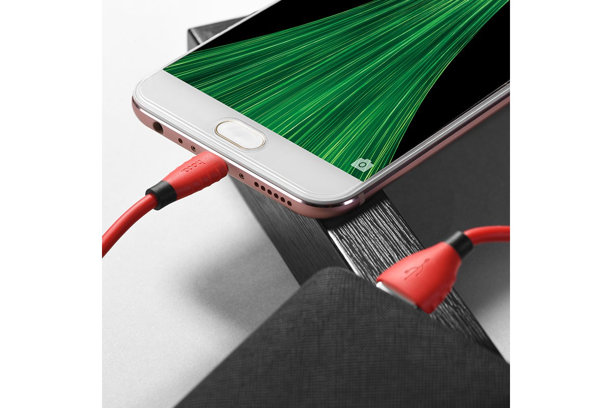 Кабель USB micro USB HOCO X27 Excellent charge charging data cable (красный) 1 метр