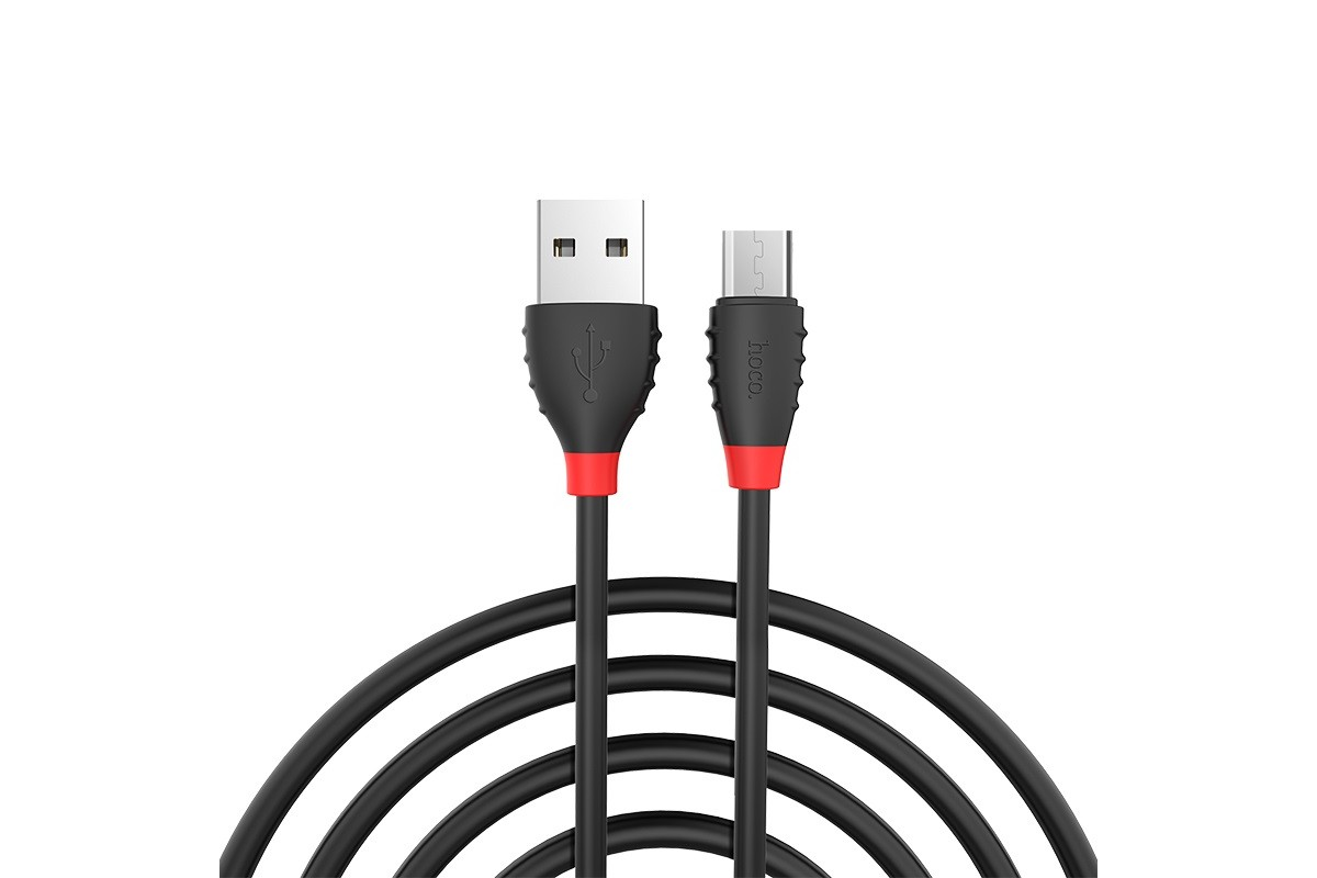 Кабель USB micro USB HOCO X27 Excellent charge charging data cable (черный) 1 метр
