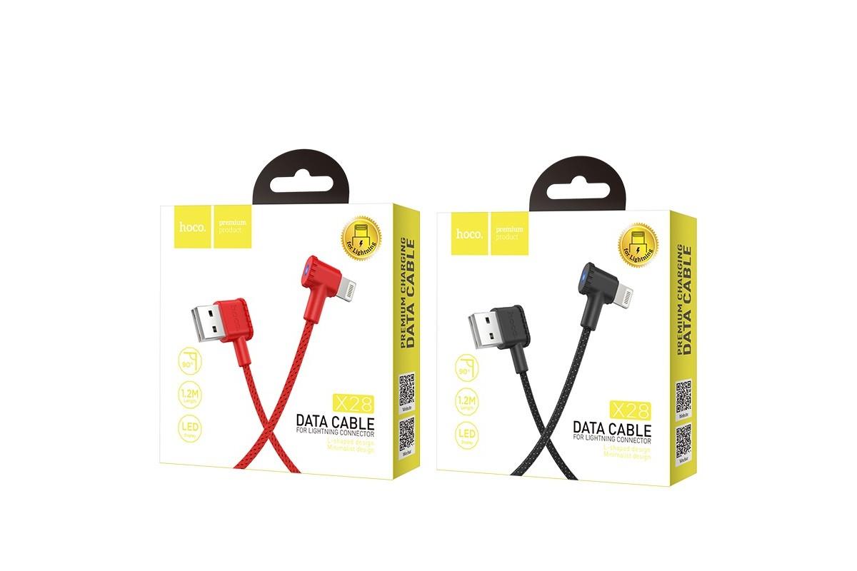 Кабель для iPhone HOCO X28 Premium charging data cable for lightning 1м черный