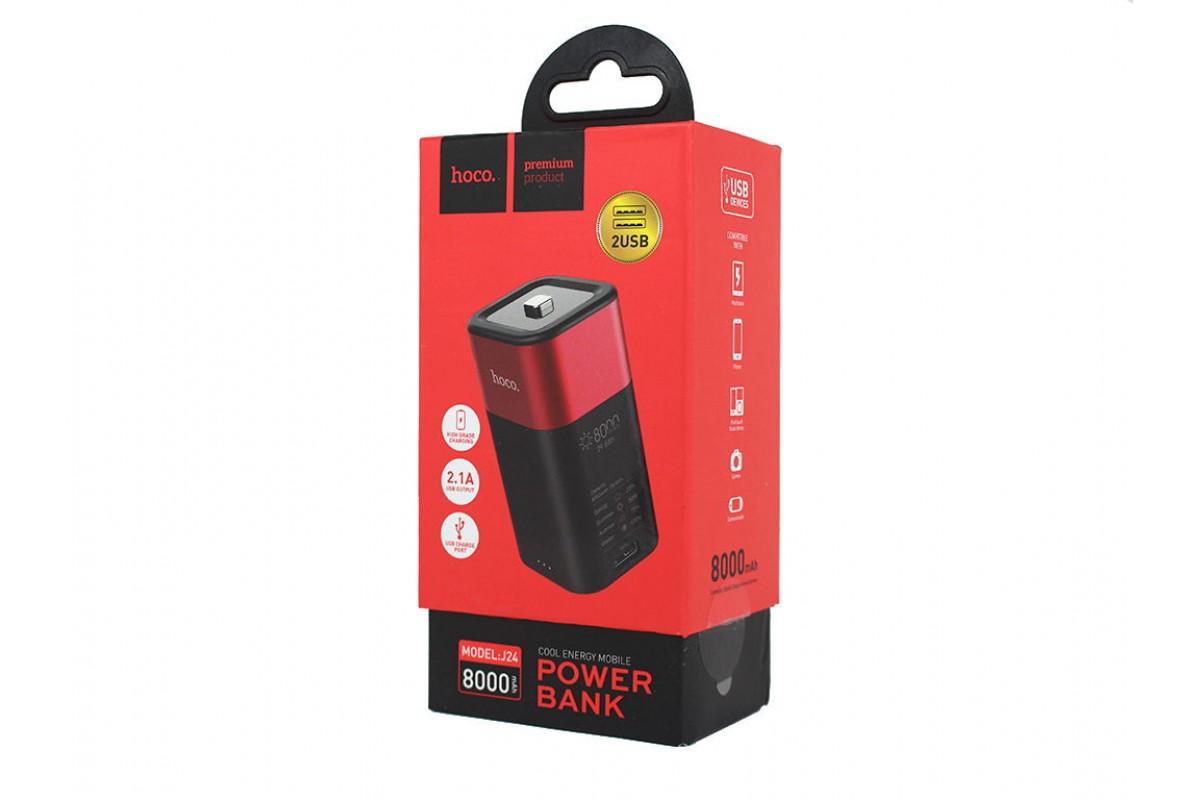 Универсальный дополнительный аккумулятор HOCO  J24 Cool energy mobile power bank 8000 mAh красный