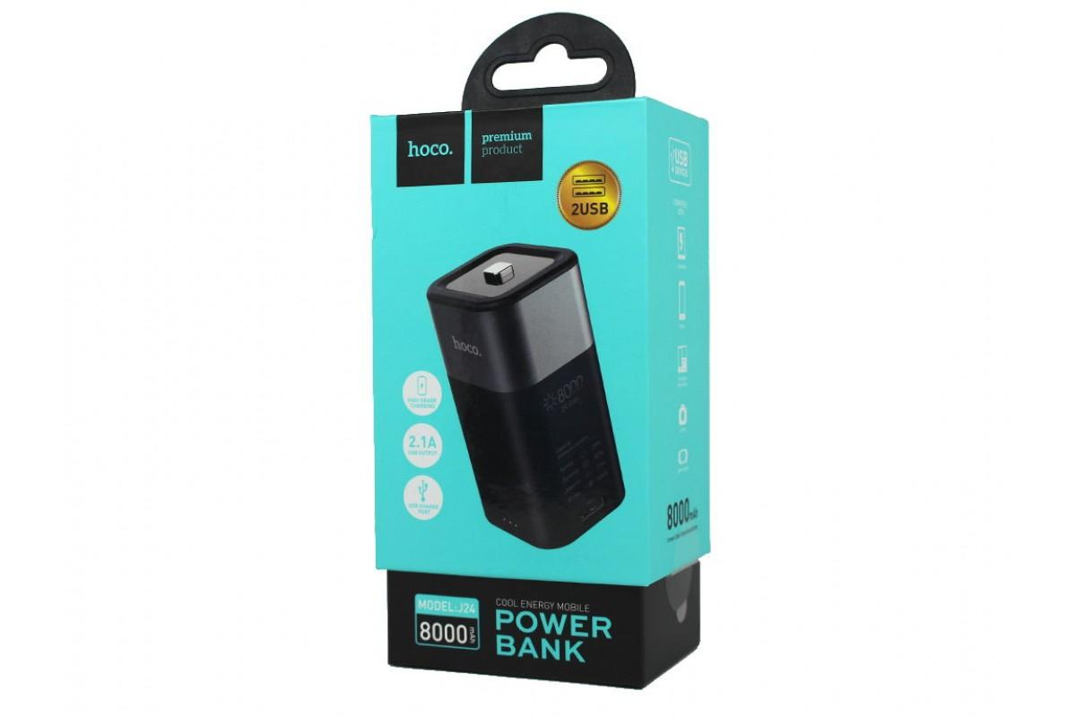 Универсальный дополнительный аккумулятор HOCO  J24 Cool energy mobile power bank 8000 mAh серый