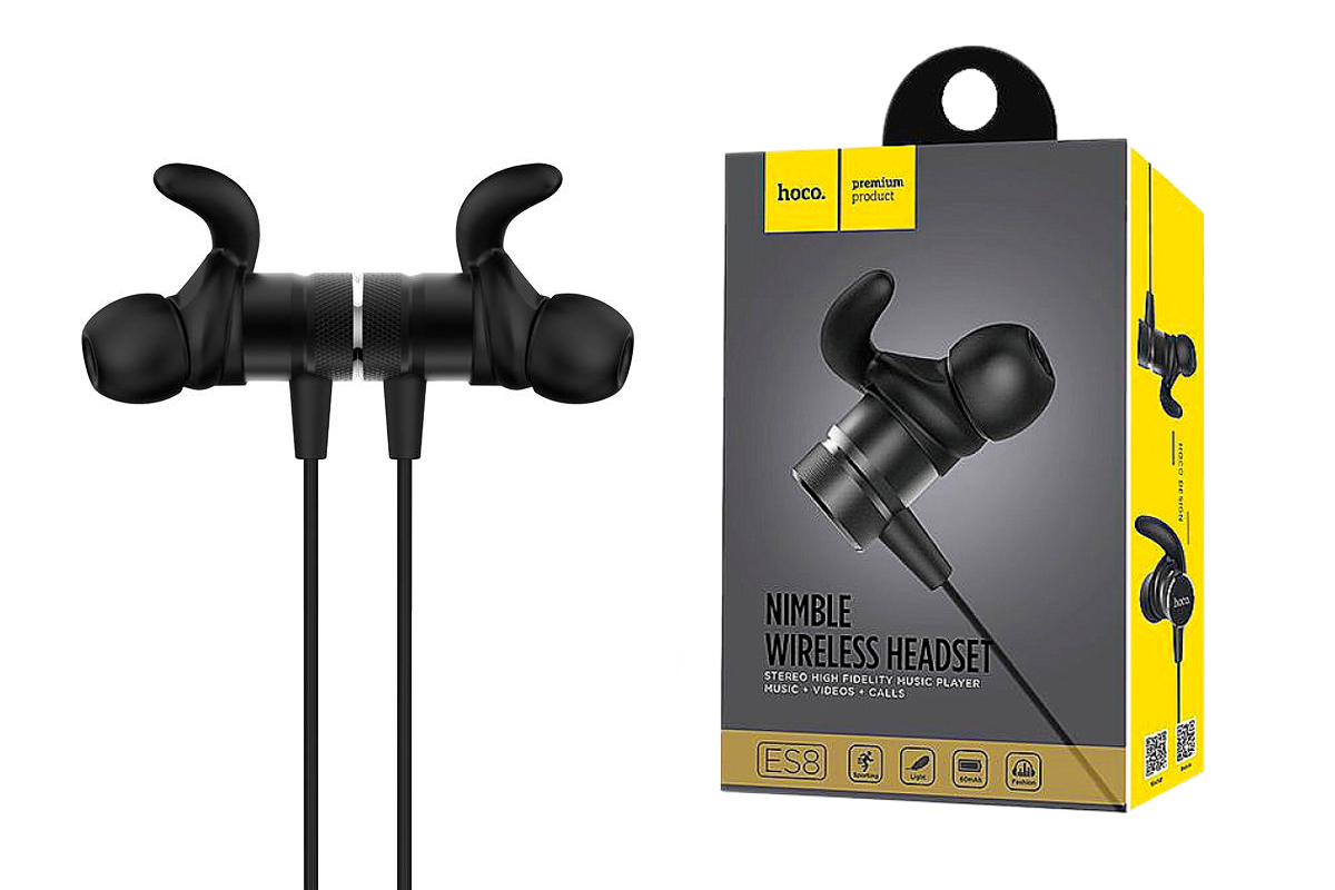 Bluetooth-гарнитура ES8 Nimble sporting bluetooth earphone HOCO черная