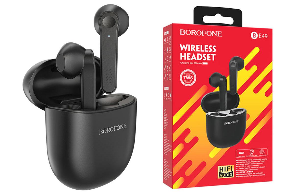 Беспроводные наушники BOROFONE BE49 Serenity TWS wireless BT цвет черная