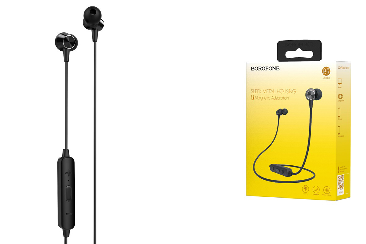 Bluetooth-гарнитура BE18 BOROFONE JoyMove sports  черная