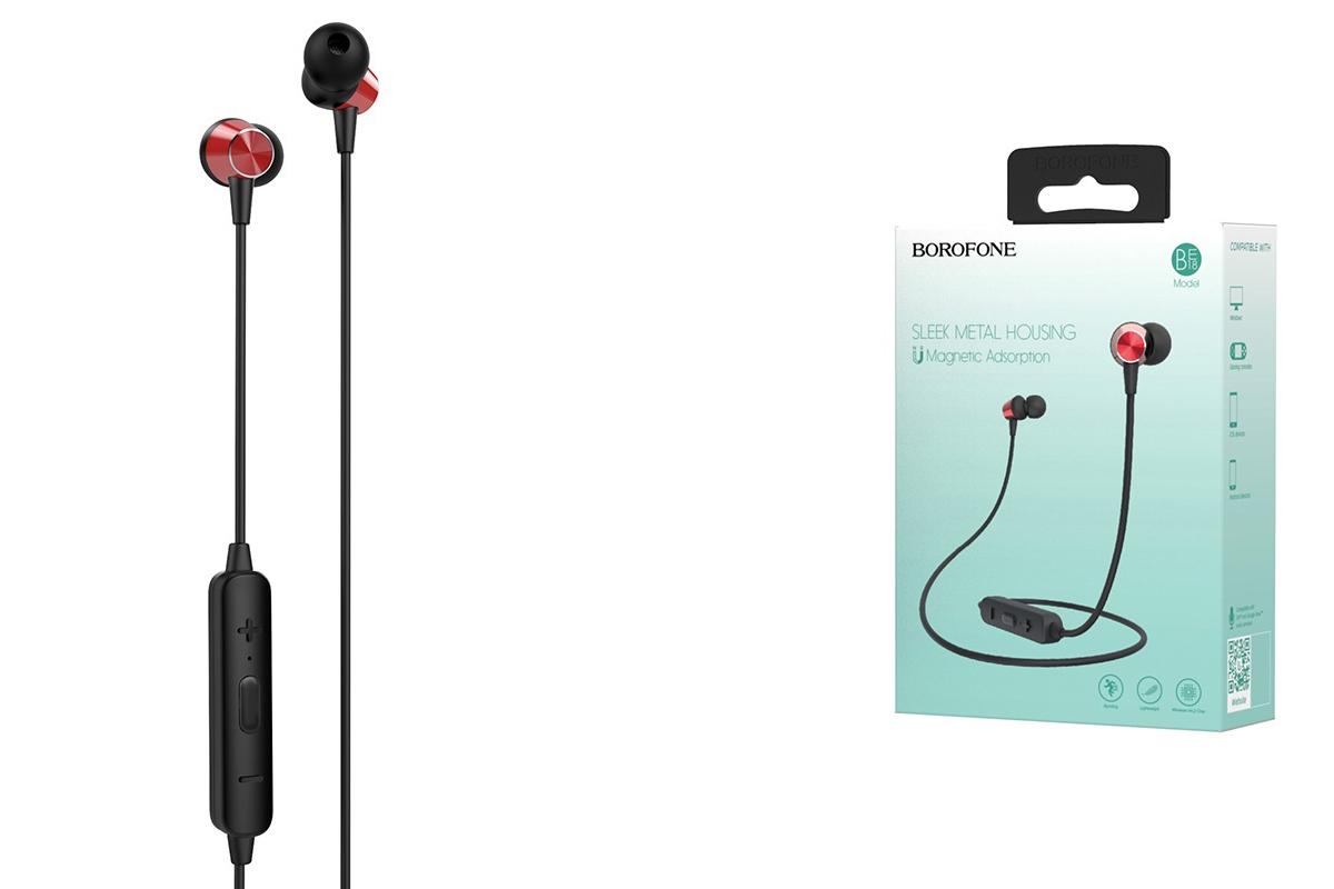 Bluetooth-гарнитура BE18 BOROFONE JoyMove sports красная