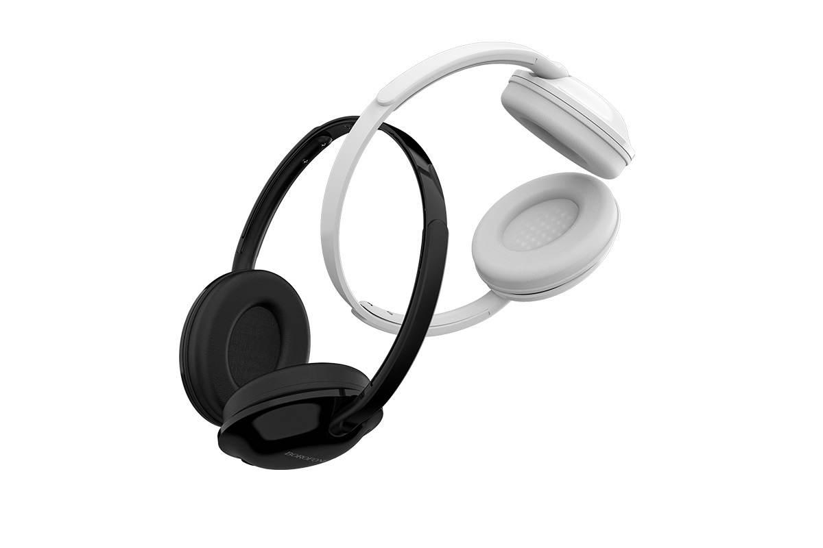 Внешние наушники/гарнитура  BO1 BOROFONE EnjoyBass In-line Control Wired Headphone черный