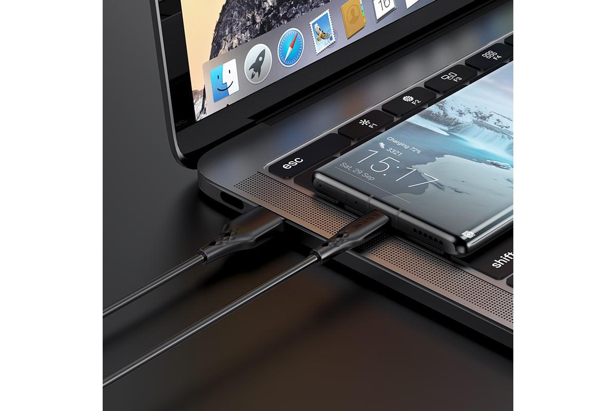 Кабель USB - USB Type-C BOROFONE BX48  черный 1м