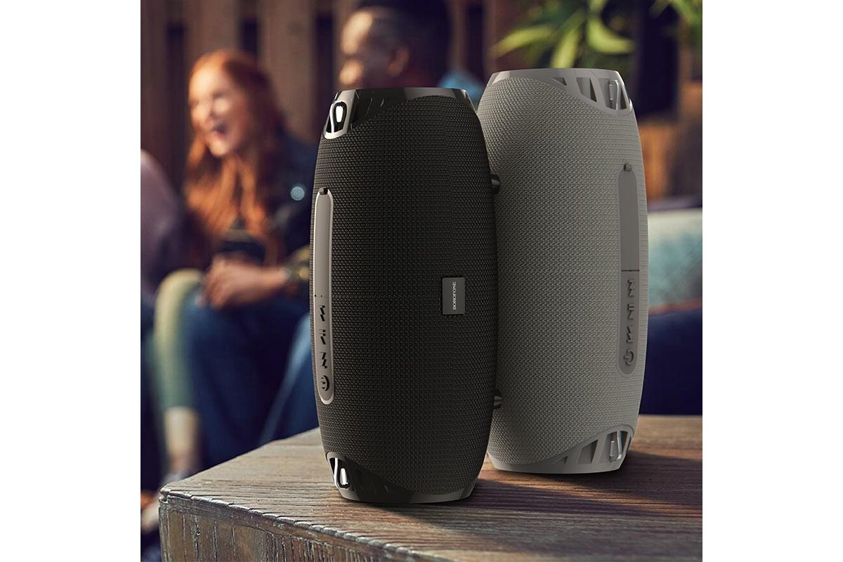 Портативная беспроводная акустика BOROFONE BR12 Amplio sports wireless speaker  цвет серый