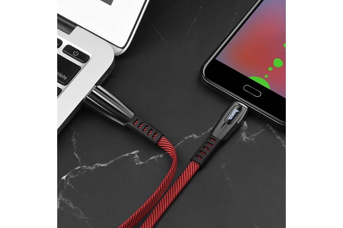 Кабель USB micro USB HOCO U70 Splendor charging data cable  (красный) 1 метр