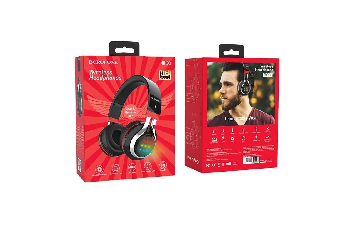 Беспроводные внешние наушники BO8 BOROFONE Love Sound wireless headset черный