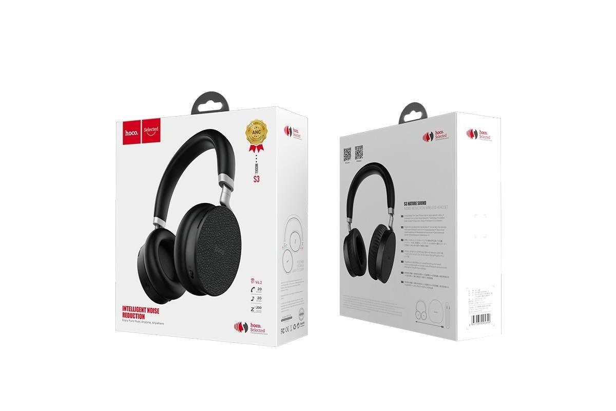 Беспроводные внешние наушники HOCO S3 Nature sound wireless headphones черный