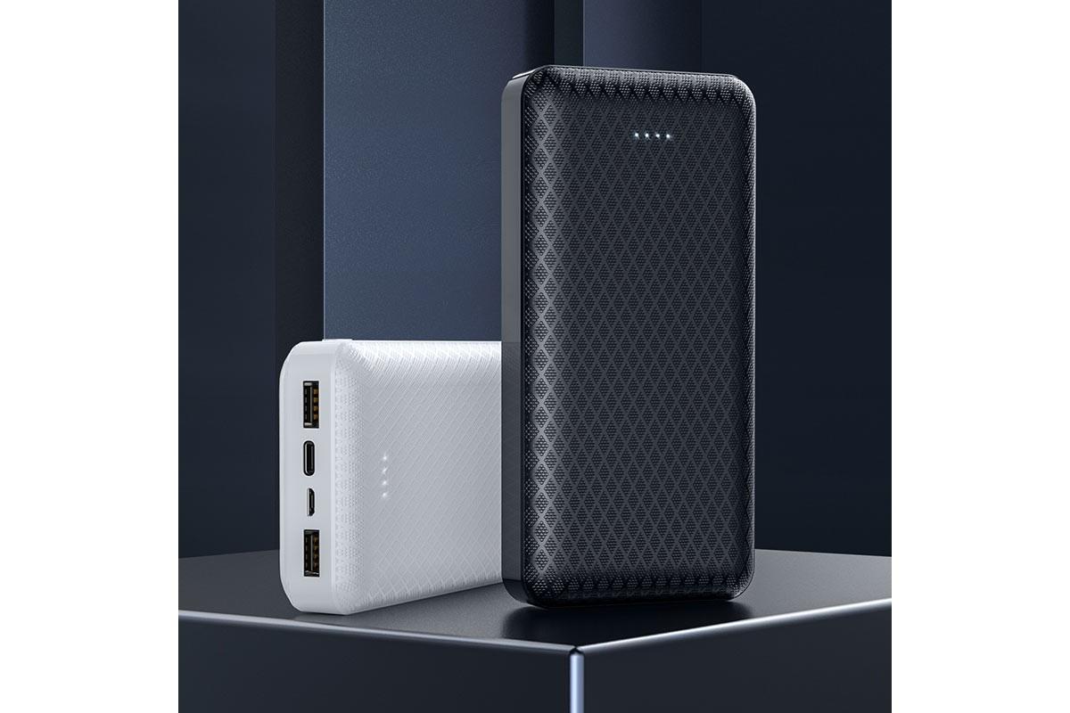 Универсальный дополнительный аккумулятор BOROFONE BJ3A Minimalist power bank 20000 mAh белый