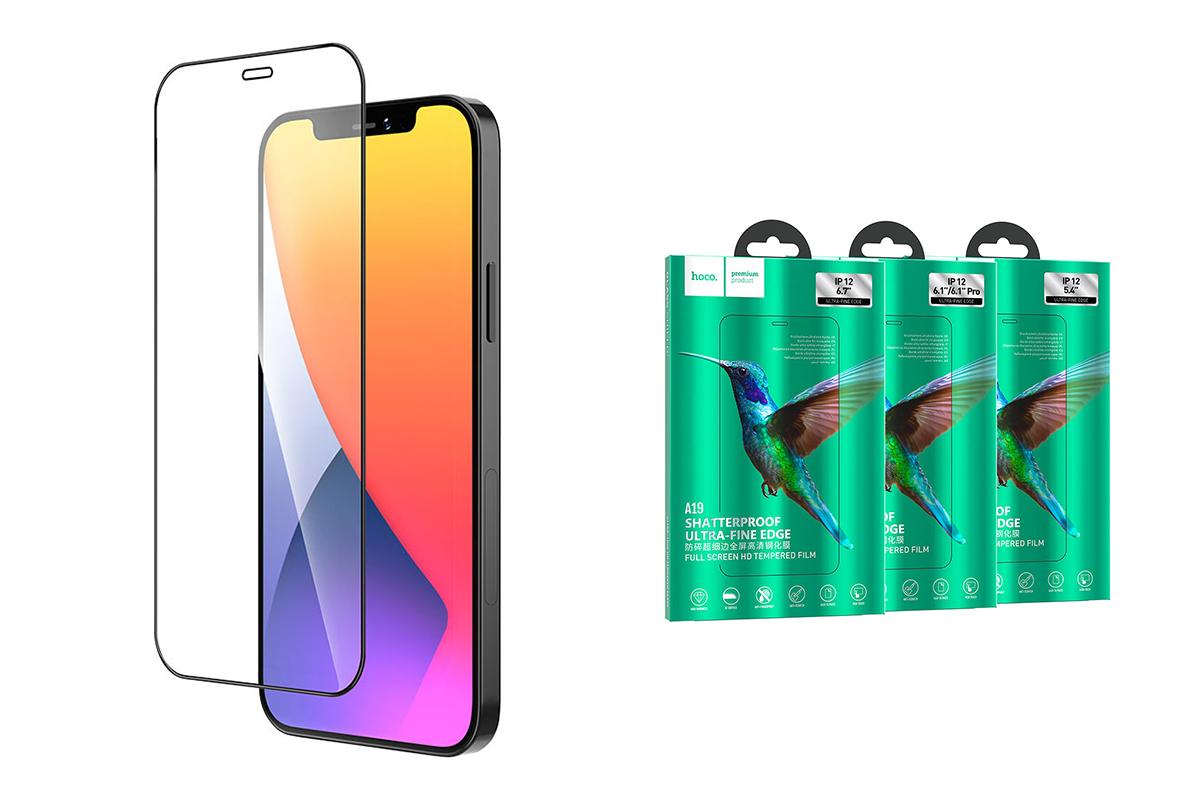 Защитное стекло дисплея iPhone 12 Pro Max (6.7)  HOCO A19 Shatterprof HD tempered glass прозрачное