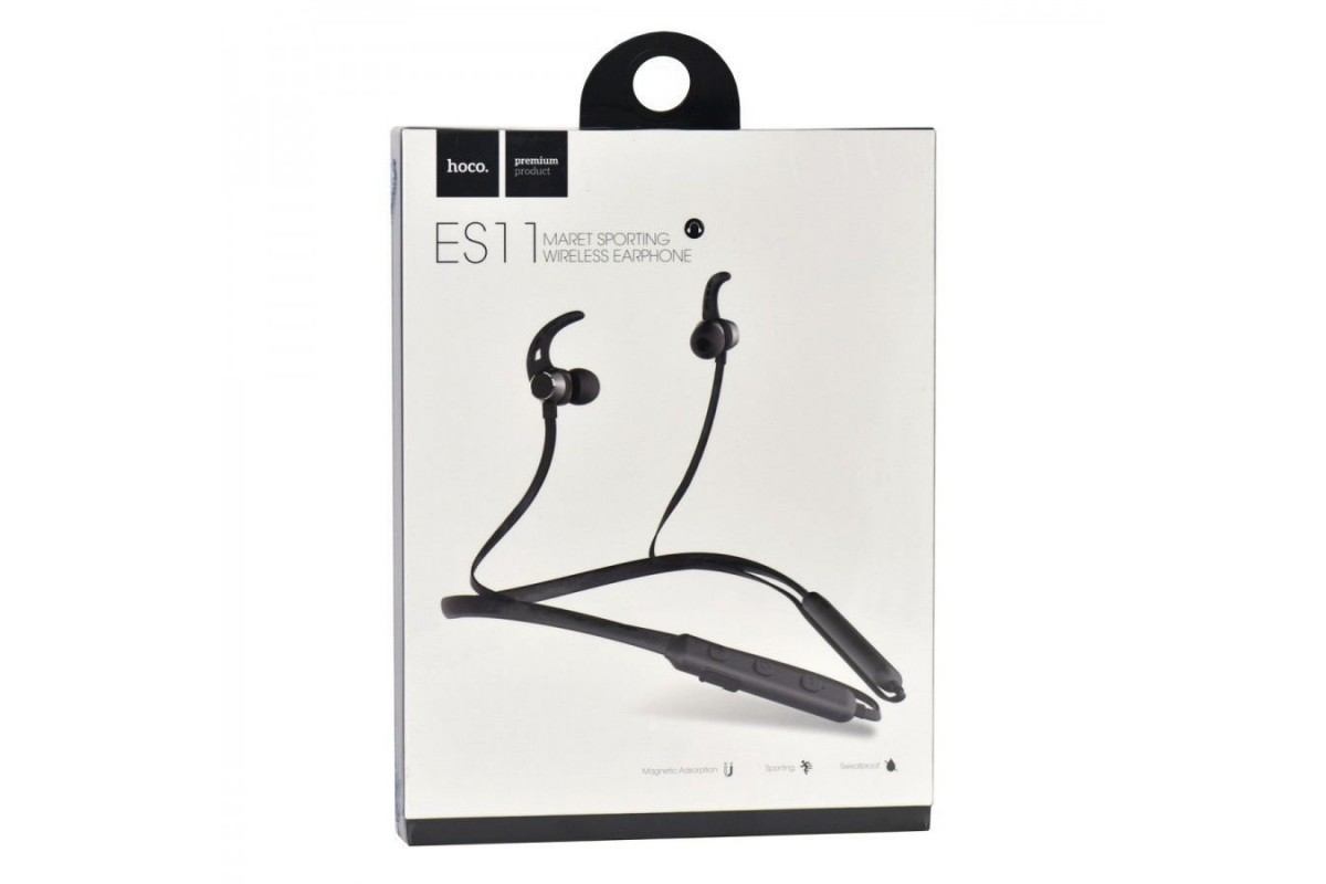 Bluetooth-гарнитура ES11 Maret sporting  wireless earphone HOCO черная