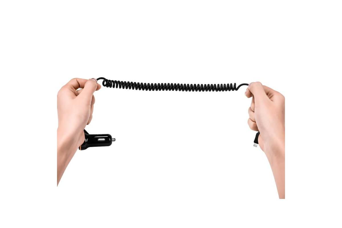 Автомобильное зарядное устройство USB 3100mAh HOCO Z14 + кабель iPhone 5/6/7