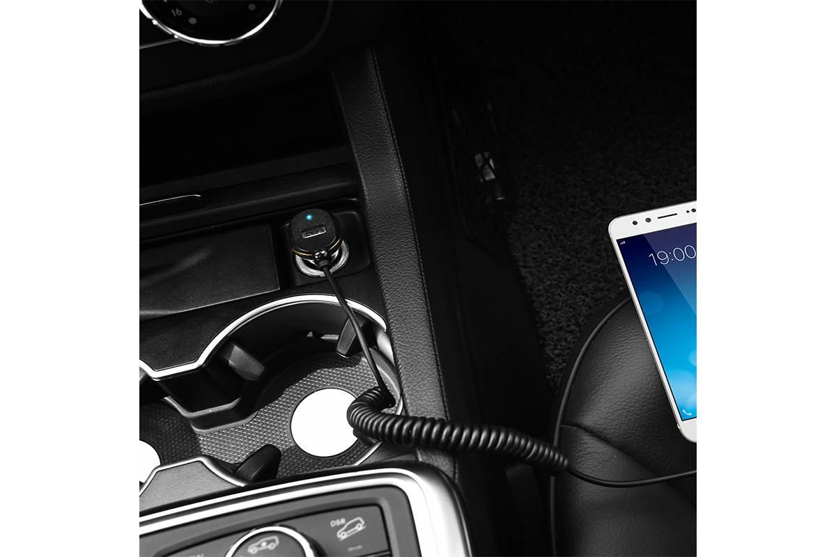 Автомобильное зарядное устройство USB 3100mAh HOCO Z14 + кабель micro USB