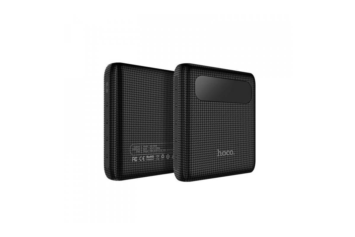 Универсальный дополнительный аккумулятор HOCO  Mige Power Bank 10000 mAh  черный