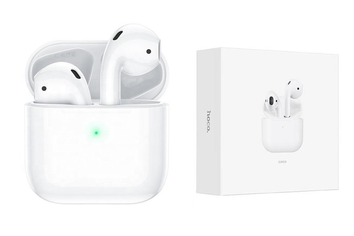 Беспроводные наушники EW03 Original series apple wireless  HOCO белые