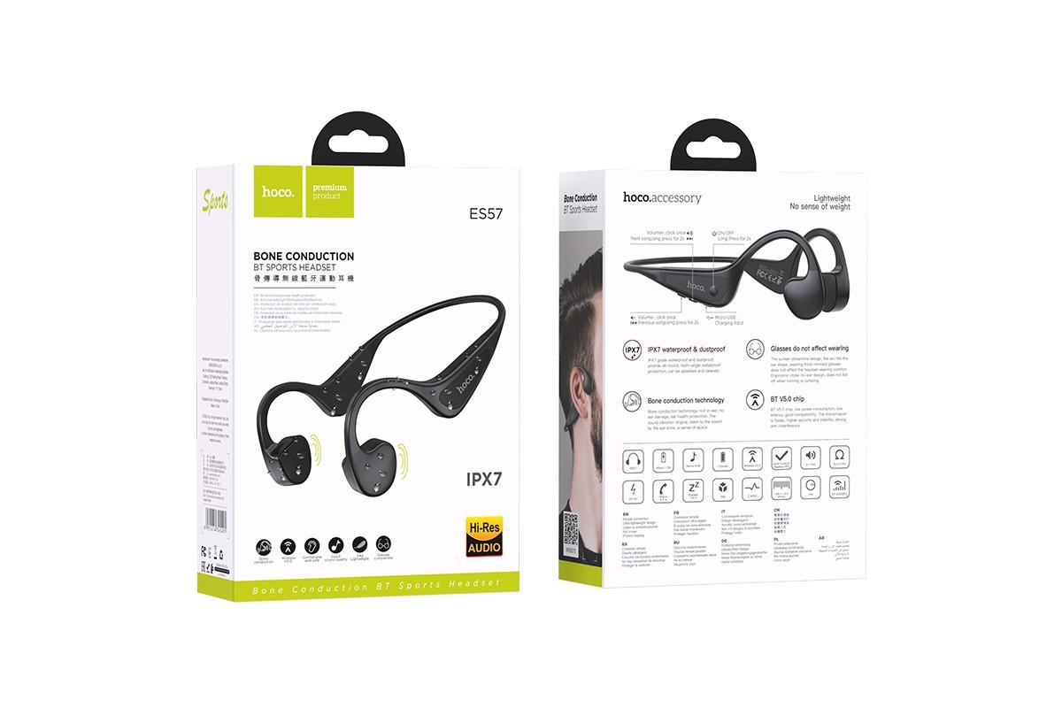 Беспроводные наушники ES57 Cool sound bone BT headset HOCO черная