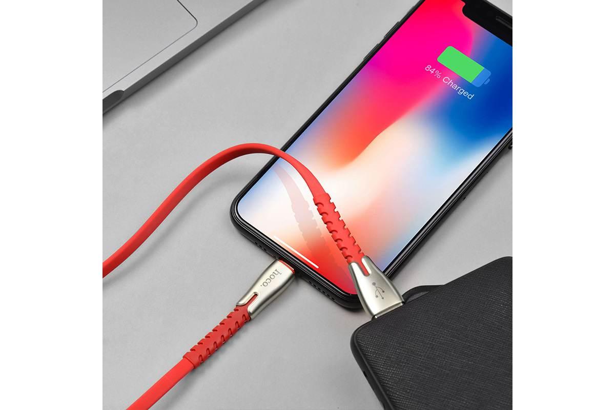 Кабель для iPhone HOCO U58 Core charging data cable for Lightning 1м красный