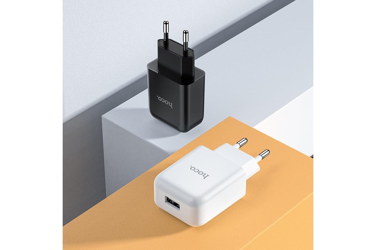 Сетевое зарядное устройство USB 2400mAh HOCO N2 Vigour single port charger белый
