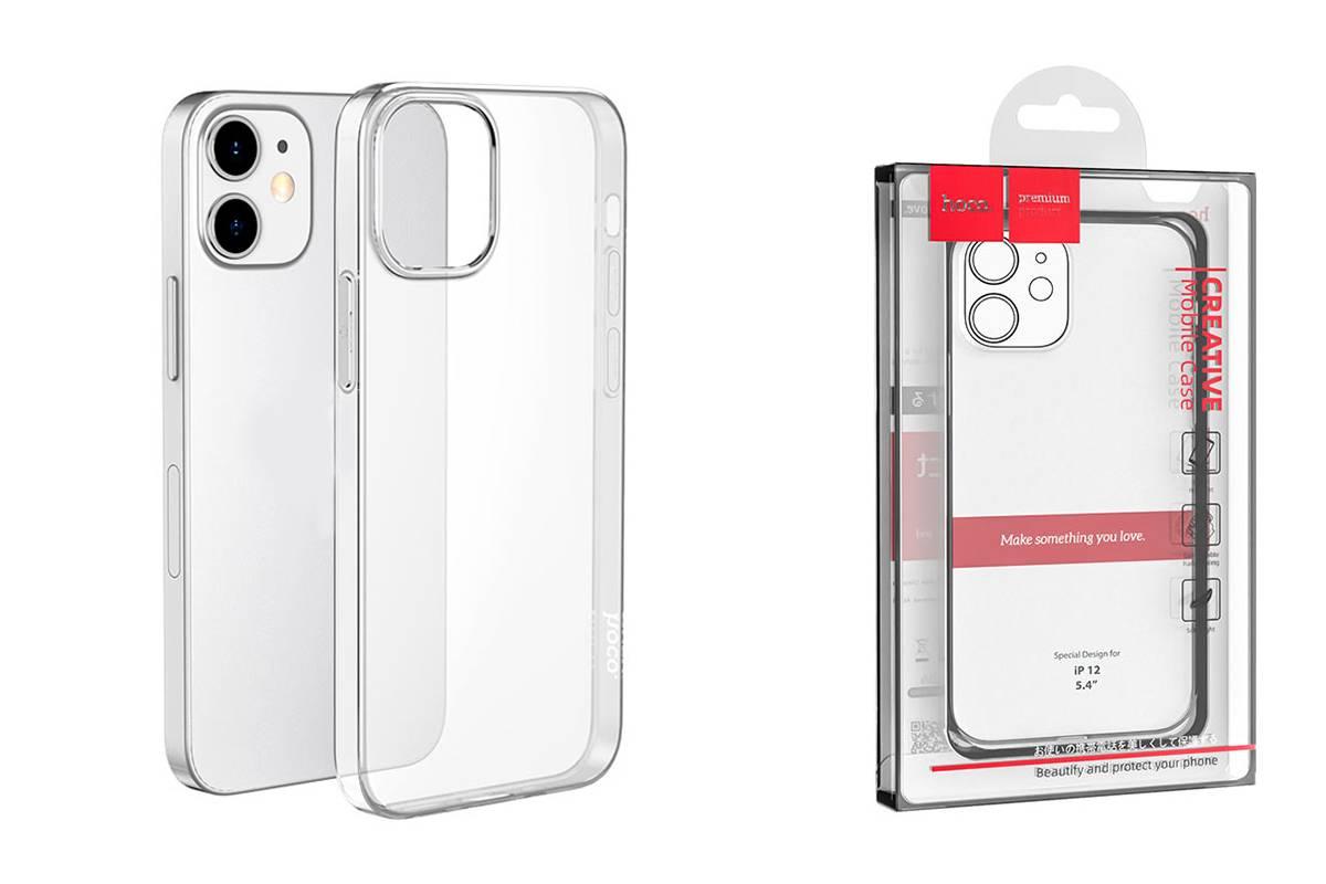 Чехол силиконовый iPhone 12 (5.4) HOCO Light series TPU Case тонкий прозрачный