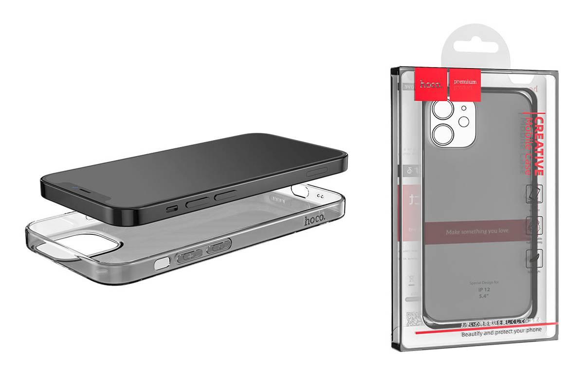 Чехол силиконовый iPhone 12 (5.4) HOCO Light series TPU Case тонкий тонированный