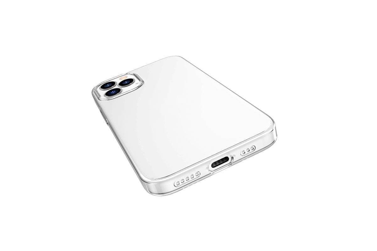 Чехол силиконовый iPhone 12 (6,7) HOCO Light series TPU Case тонкий прозрачный