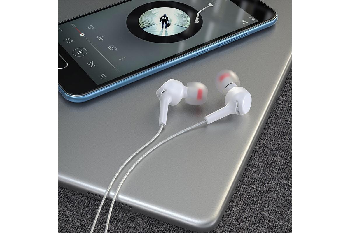 Наушники HOCO M78 EL Placer  universal earphones белая