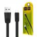 Кабель USB micro USB HOCO X9 Premium (черный) плоский 1 метр