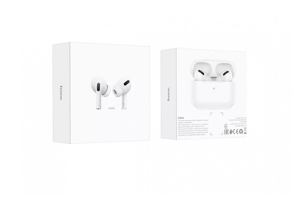 Беспроводные наушники EW04 Original series tru wireless BT headset  HOCO белые
