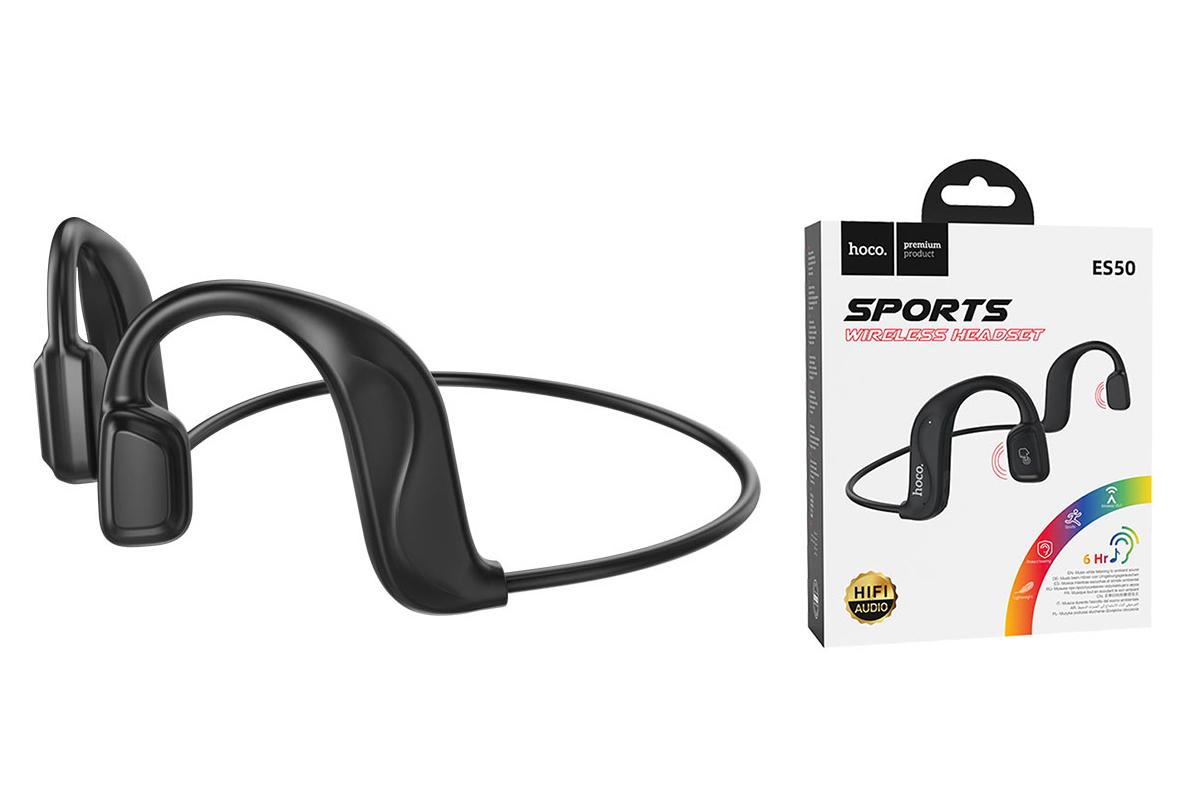 Беспроводные наушники ES50 Rima Air conduction BT headset HOCO черная