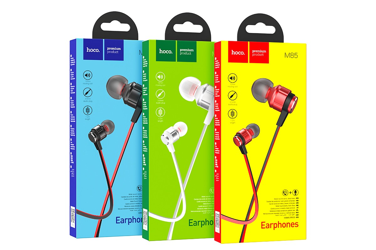 Наушники HOCO M85 Platinum sound universal earphones серебристая
